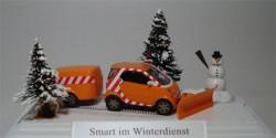 Smart Fortwo mit Anhänger Winterdienst