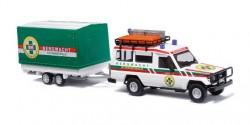 Toyota Land Cruiser HZ J78 Bergwacht Schwarzwald mit Anhänger