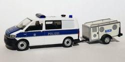 VW T6 Diensthundeführerkraftwagen mit Hundetransportanhänger Bundespolizei